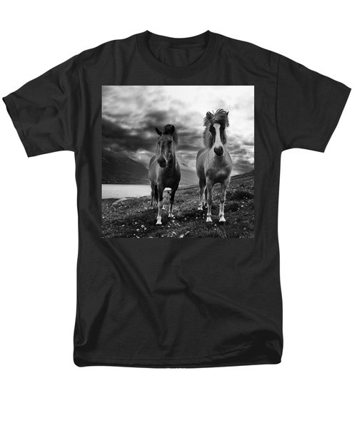 Men's T-Shirt  (Regular Fit) featuring the photograph Icelandic Horses by Frodi Brinks