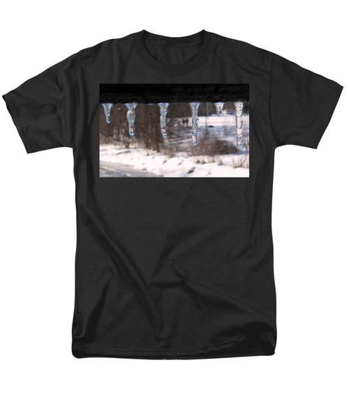 Men's T-Shirt  (Regular Fit) featuring the photograph Icicles On The Bridge by Nina Silver