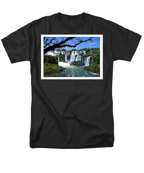 Iguazu Falls In Argentina Men's T-Shirt  (Regular Fit) by Joan  Minchak