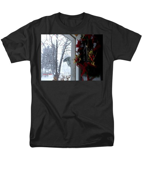 Men's T-Shirt  (Regular Fit) featuring the photograph I'll Be Home For Christmas by Shana Rowe Jackson
