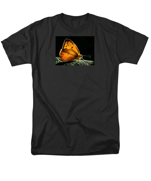 Illuminated Butterfly Men's T-Shirt  (Regular Fit) by Alice Cahill