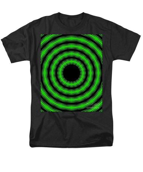 Men's T-Shirt  (Regular Fit) featuring the painting In Circles-green Version by Roz Abellera Art