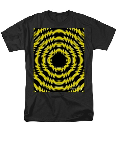 Men's T-Shirt  (Regular Fit) featuring the painting In Circles- Yellow Version by Roz Abellera Art