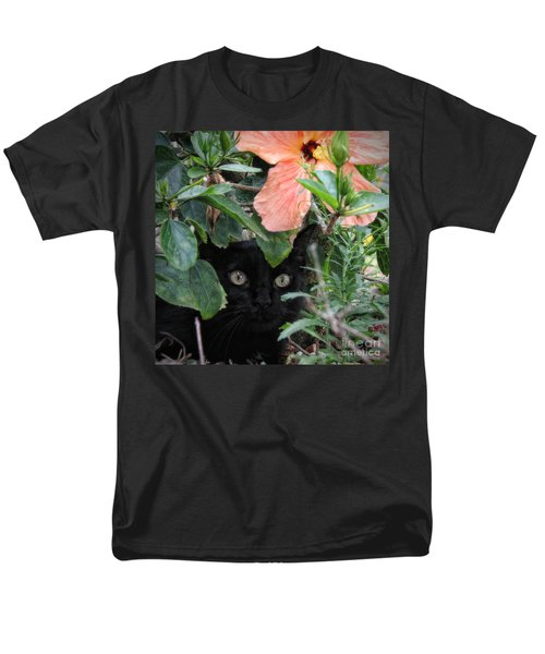 Men's T-Shirt  (Regular Fit) featuring the photograph In His Jungle by Peggy Hughes