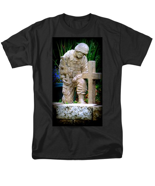 In Honor Of The Wounded Warrior Men's T-Shirt  (Regular Fit) by Kay Novy
