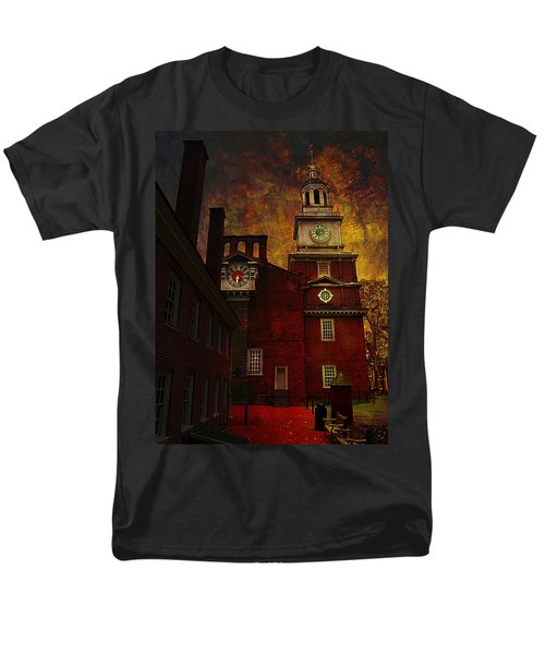 Independence Hall Philadelphia Let Freedom Ring Men's T-Shirt  (Regular Fit) by Jeff Burgess