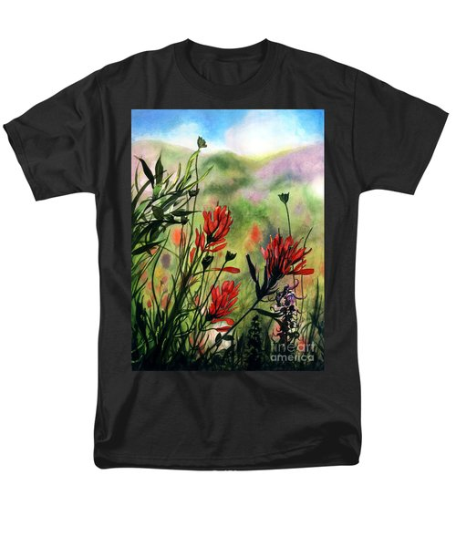 Indian Paint Brush Men's T-Shirt  (Regular Fit) by Barbara Jewell