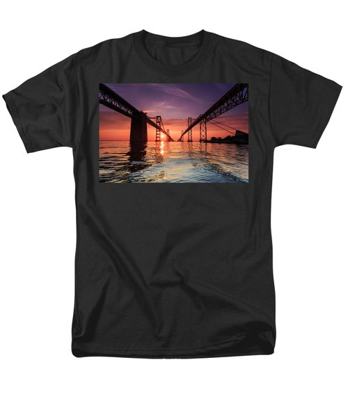 Men's T-Shirt  (Regular Fit) featuring the photograph Into Sunrise - Bay Bridge by Jennifer Casey