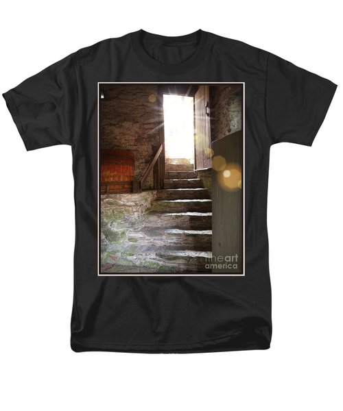 Men's T-Shirt  (Regular Fit) featuring the photograph Into The Light - The Ephrata Cloisters by Joseph J Stevens