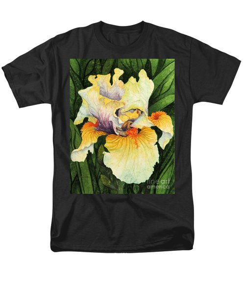 Men's T-Shirt  (Regular Fit) featuring the painting Iris Elegance by Barbara Jewell