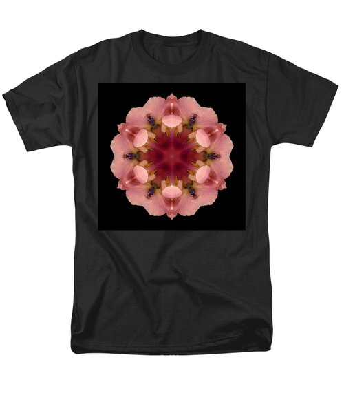Iris Germanica Flower Mandala Men's T-Shirt  (Regular Fit)