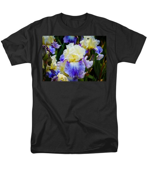Men's T-Shirt  (Regular Fit) featuring the photograph Iris In Blue And Yellow by Patricia Babbitt