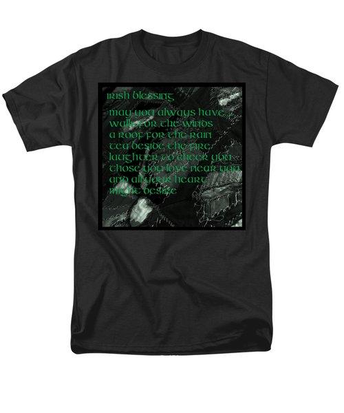Irish Blessing Stitched In Time Men's T-Shirt  (Regular Fit) by LeeAnn McLaneGoetz McLaneGoetzStudioLLCcom