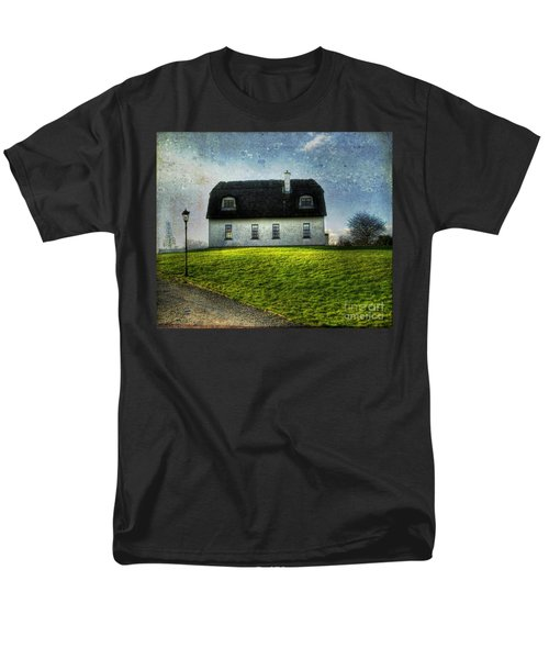 Irish Thatched Roofed Home Men's T-Shirt  (Regular Fit) by Juli Scalzi