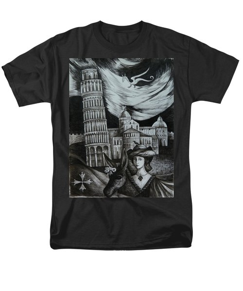 Italian Fantasies. Pisa Men's T-Shirt  (Regular Fit) by Anna  Duyunova