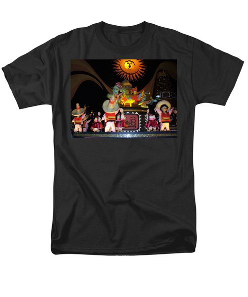 It's A Small World With Dancing Mexican Character Men's T-Shirt  (Regular Fit) by Lingfai Leung