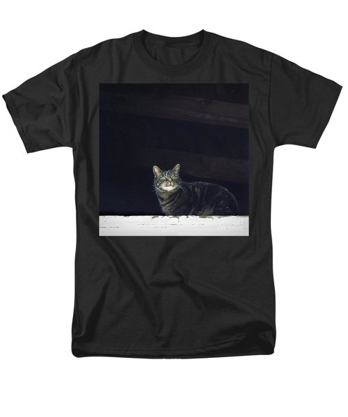 It's Snowing -- Looking Out The Barn Window Men's T-Shirt  (Regular Fit) by Joy Nichols