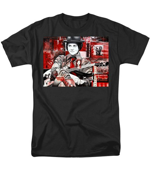 Men's T-Shirt  (Regular Fit) featuring the painting Jack White by Joshua Morton