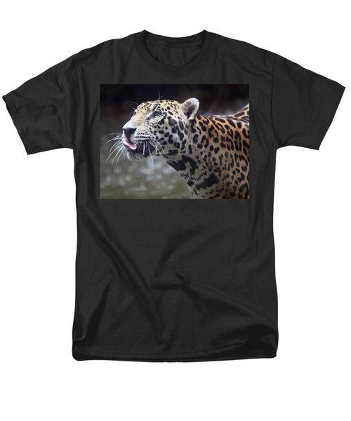 Men's T-Shirt  (Regular Fit) featuring the photograph Jaguar Sticking Out Tongue by Shoal Hollingsworth