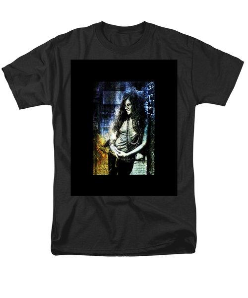 Janis Joplin - Blue Men's T-Shirt  (Regular Fit) by Absinthe Art By Michelle LeAnn Scott