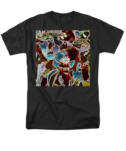 Japanese Quince In Abstract Men's T-Shirt  (Regular Fit) by Tine Nordbred