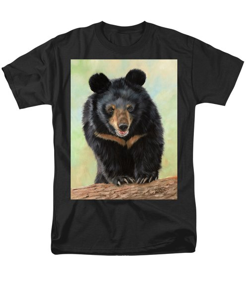 Jasper Moon Bear - In Support Of Animals Asia Men's T-Shirt  (Regular Fit) by David Stribbling