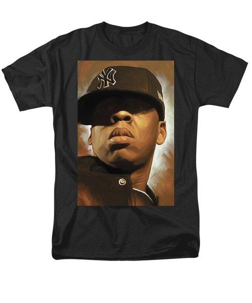 Jay-z Artwork Men's T-Shirt  (Regular Fit) by Sheraz A