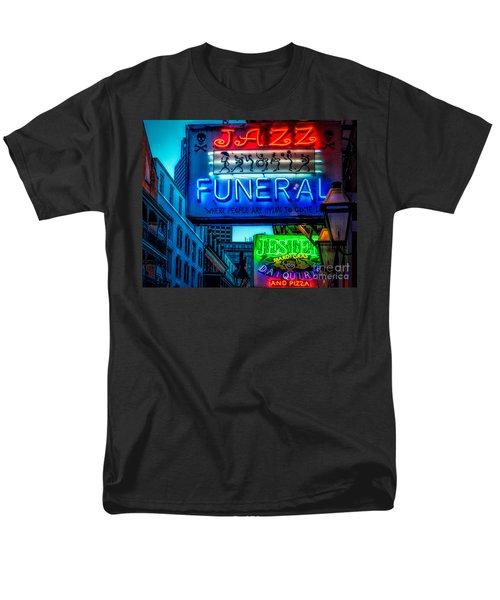 Jazz Funeral And Jester On Bourbon St. Men's T-Shirt  (Regular Fit) by Kathleen K Parker