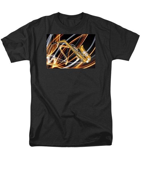 Jazz Saxaphone  Men's T-Shirt  (Regular Fit) by Louis Ferreira