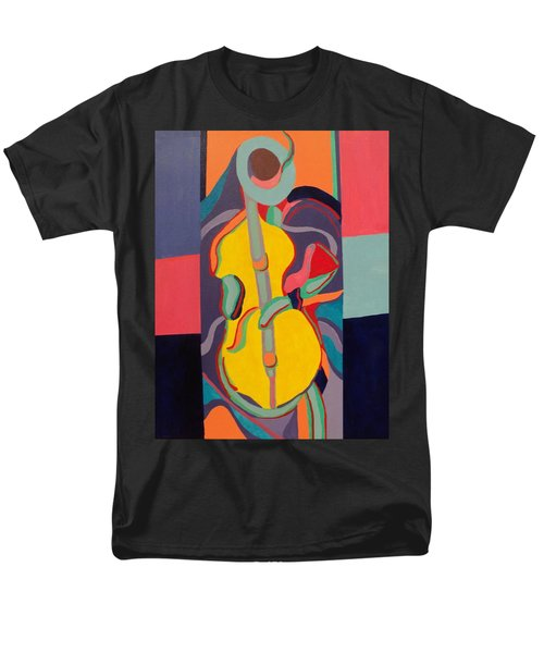 Jazzamatazz Cello Men's T-Shirt  (Regular Fit) by Angelo Thomas
