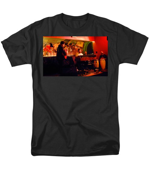Jc Stylles At Mintons Playhouse Harlem Usa Men's T-Shirt  (Regular Fit) by Steve Archbold