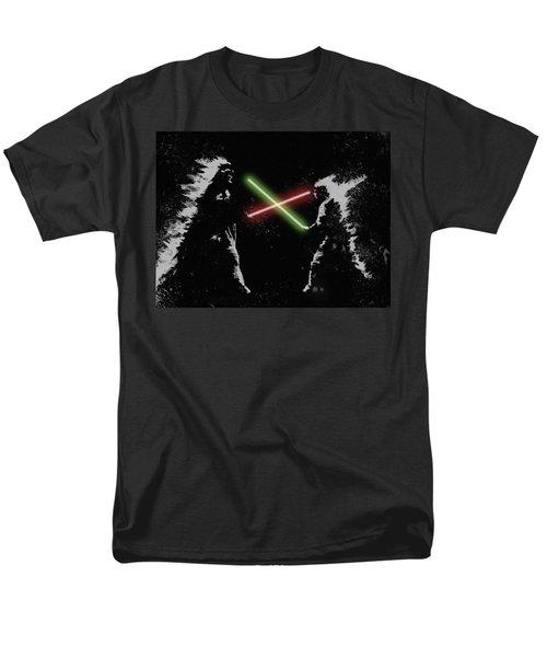 Jedi Duel Men's T-Shirt  (Regular Fit) by George Pedro