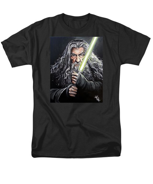 Jedi Master Gandalf Men's T-Shirt  (Regular Fit) by Tom Carlton