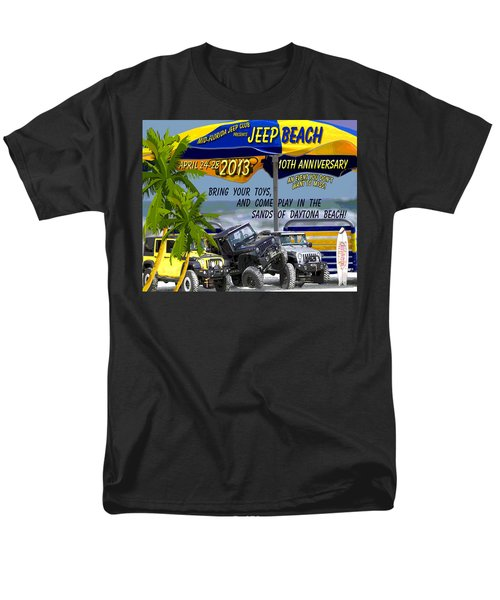 Men's T-Shirt  (Regular Fit) featuring the photograph Jeep Beach 2013 Welcomes All Jeepers by DigiArt Diaries by Vicky B Fuller