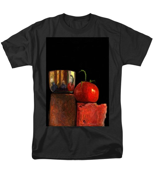 Jefferson Cup With Tomato And Sedona Bricks Men's T-Shirt  (Regular Fit) by Catherine Twomey
