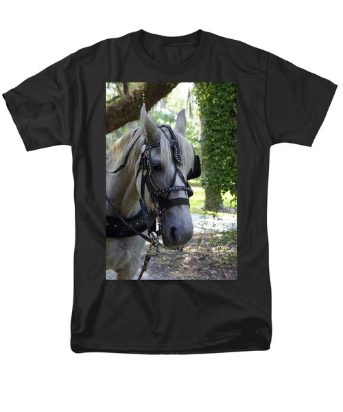 Jekyll Horse Men's T-Shirt  (Regular Fit) by Laurie Perry