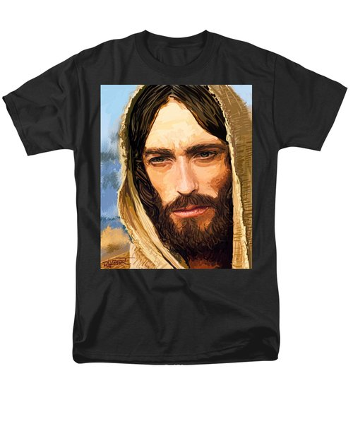 Jesus Of Nazareth Portrait Men's T-Shirt  (Regular Fit) by Dave Luebbert