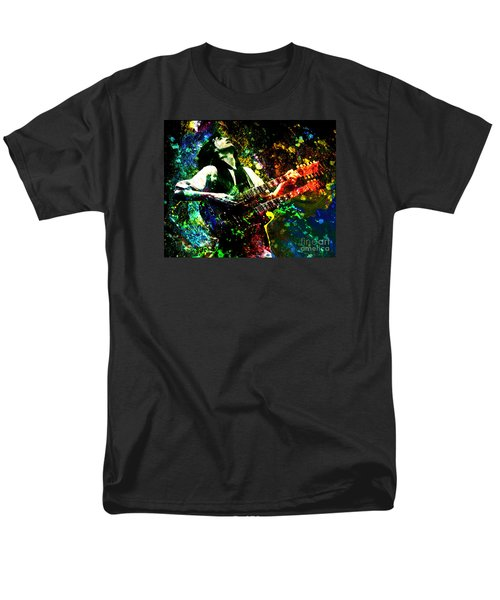 Jimmy Page - Led Zeppelin - Original Painting Print Men's T-Shirt  (Regular Fit) by Ryan Rock Artist
