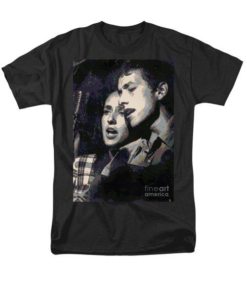 Joan Baez And Bob Dylan Men's T-Shirt  (Regular Fit) by Paulette B Wright