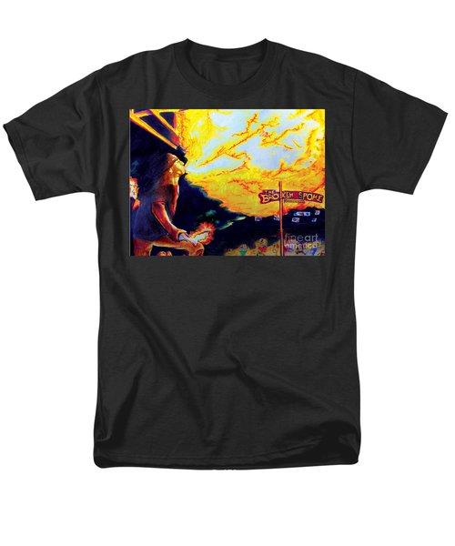 Joe At The Broken Spoke Saloon Men's T-Shirt  (Regular Fit) by Albert Puskaric
