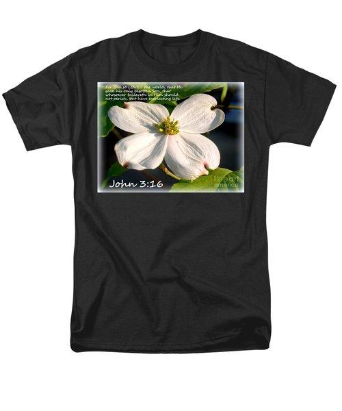 John 3-16/dogwood Legend Men's T-Shirt  (Regular Fit)