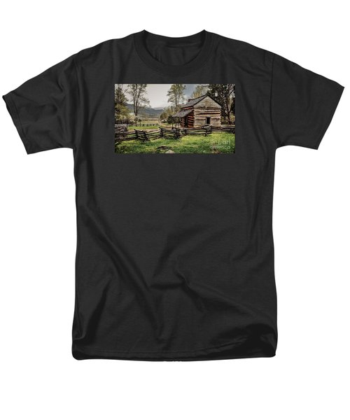 Men's T-Shirt  (Regular Fit) featuring the photograph John Oliver's Cabin In Spring. by Debbie Green