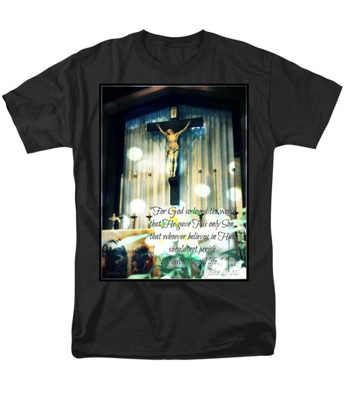 John316 - Easter Crucifix Men's T-Shirt  (Regular Fit) by Sharon Soberon
