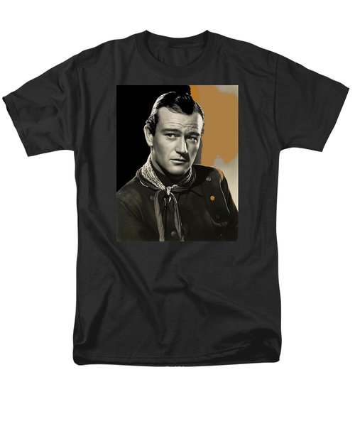 John Wayne  Publicity Photo In Costume Stagecoach 1939-2009 Men's T-Shirt  (Regular Fit) by David Lee Guss