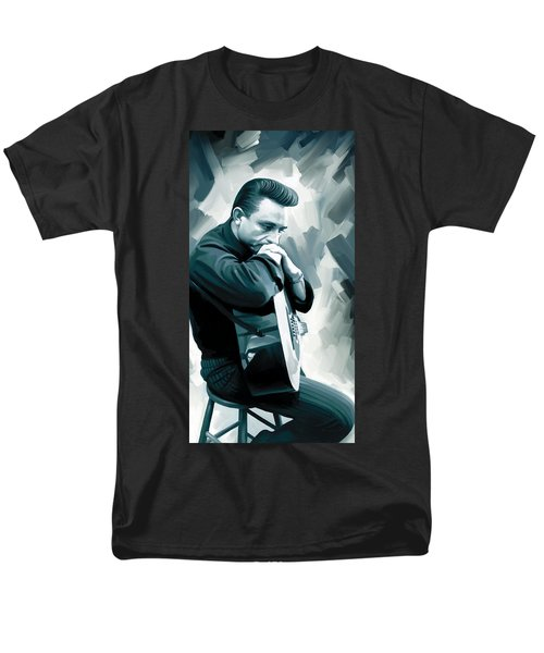 Johnny Cash Artwork 3 Men's T-Shirt  (Regular Fit) by Sheraz A