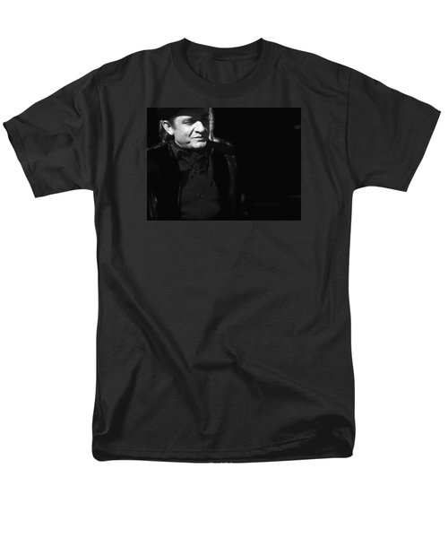 Men's T-Shirt  (Regular Fit) featuring the photograph Johnny Cash Film Noir Homage Old Tucson Arizona 1971 by David Lee Guss