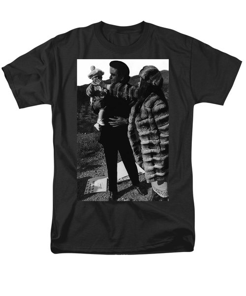 Men's T-Shirt  (Regular Fit) featuring the photograph Johnny Cash Flesh And Blood Music Homage Cash Family Old Tucson Az by David Lee Guss