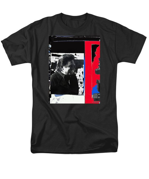 Men's T-Shirt  (Regular Fit) featuring the photograph Johnny Cash  Smiling Collage 1971-2008 by David Lee Guss
