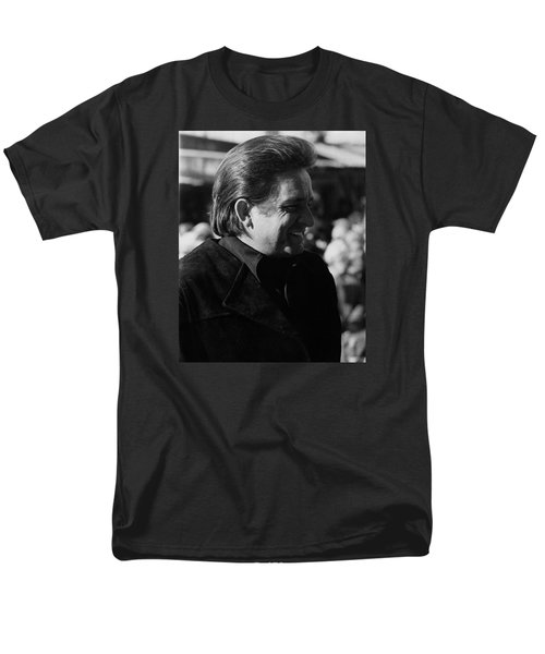 Men's T-Shirt  (Regular Fit) featuring the photograph Johnny Cash Smiling Old Tucson Arizona 1971 by David Lee Guss