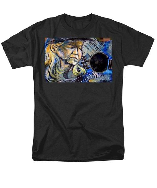 Johnny Winter Painted Guitar Men's T-Shirt  (Regular Fit) by Fiona Kennard